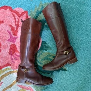 Tory Burch Leather Knee High Boots